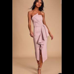 Elliatt Reception Light Purple Strapless Dress